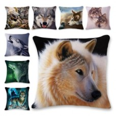 Cool Wolf Painting Square Pillow Case Sofa Throw Cushion Cover Home Decorative   283021920288