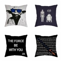 Cushion Cover Cotton Pillow Case Home Sofa Decor Anime Star Wars Hot Vintage   162925309150