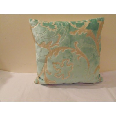 Designers Guild Velvet Fontange Celadon Cushion Cover  / Pillow Size Available.   263863459520
