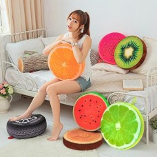 Modern Style seat cushion round 3D seasons fruit Home Sofa pillow cushion New YG   112748234507