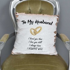 To My Husband Sequin Cushion Magic Reveal Mermaid | Wedding | Reversible Sequin   222960588860