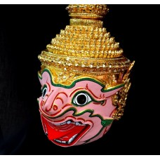 Jambavan Mask Khon Thai Handmade Ramayana Headdress Home Decor Collection New   232144989162