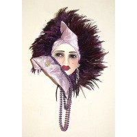 Unique Creations Lady Face Mask Wall Hanging Decor   253786379382