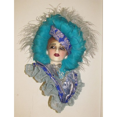 Unique Creations Lady Face Mask Wall Hanging Decor   401575673893