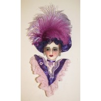 Unique Creations Limited Edition Lady Face Mask Wall Hanging Decor    401568533890