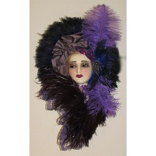 Unique Creations Limited Edition Lady Face Mask Wall Hanging Decor   253764347376