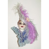 Unique Creations Limited Edition Lady Face Mask Wall Hanging Decor   253790879787