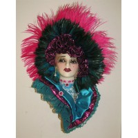 Unique Creations Limited Edition Lady Face Mask Wall Hanging Decor   401575673523