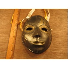 Vintage Solid Brass Art THEATRICAL FACE MASK Wall Hanging Decor - India - VGC   123293061757