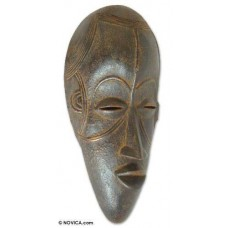WARRIOR's PROTECTION African Hand Carved WOOD MASK New   312191881844