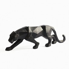 Abstract Black Leopard Sculpture Resin Black Color Figure Statue for Deco Home A   253668270751