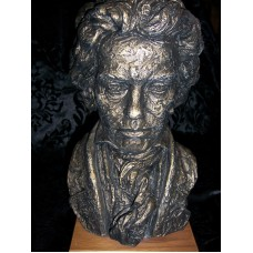 "Austin ""Old World"" Style Bronze Toned Beethoven Statue with Gilded Highlights   381731250591"