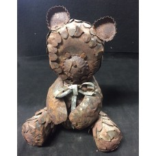 Highly Unique One Of A Kind Hand Made Metal Teddy Bear Steampunk Style   132648462139