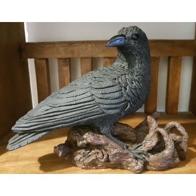 Large & Heavy Spiritual Raven Statue (solid not hollow)   153042313041