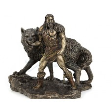 Norse God Tyr And The Binding Of Fenrir Statue Sculpture Figurine  6944197135098  192503840012