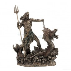 Poseidon With Trident Standing On Hippocampus Statue *GREAT HOLIDAY GIFT! 773822040645  192627575688