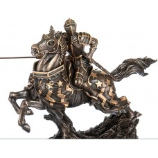 "The  statuette ""Knight on horseback"" (31 cm)/ Veronese KNIGHT WARRIOR statuette   142474980034"
