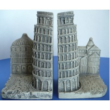 "Leaning Tower of Pisa Italy Theme Ceramic 7"" Bookends. TMS 2002   161782815346"