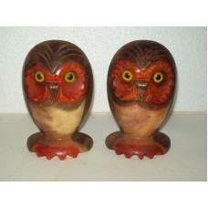 "2019 ""Vintage"" ~ NOYMER ~ Owl Bookends ~ Real Alabaster ~ Made in Italy   163201290143"