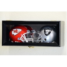 2 Mini Helmet Helmets Display Case Cabinet Holder Rack - with Mirror Backing   371967600832