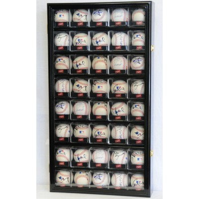 40 Acrylic Cubes Baseball Ball Cabinet Wall Display Case 98% UV Lockable    302333858057