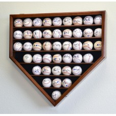 43 Baseball Ball Display Case Cabinet Holder Rack Home Plate Shaped w/98% UV Pro   371967601823