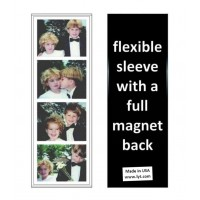 500 Magnetic Photo Booth Frames made in USA, Full Magnet, white/black, free ship   192627390976