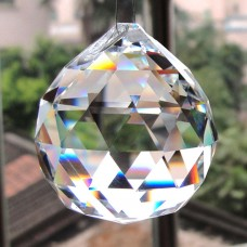 5Pcs Feng Shui Clear Crystal Sun Catcher Hanging Rainbow Prism Wind Chime Decor   362153810684