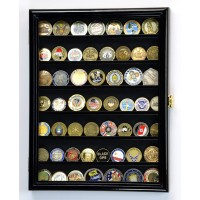 Army Navy Police Military Challenge Coin Display Case Holder Rack 98%UV Lockable   371967600842