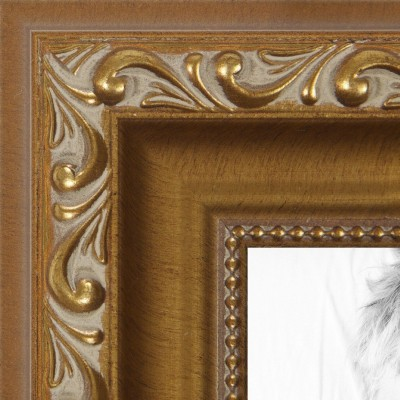 ArtToFrames 9x23 inch Gold with beads Wood Picture Frame, 2WOMD10051-9x23   123311391742
