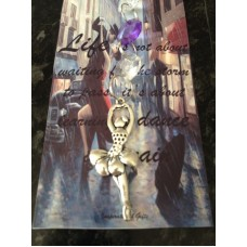 Ballerina Suncatcher With Inspirational Card.  Can Be Personalised.   223100997301