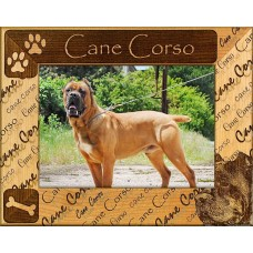 CANE CORSO: ENGRAVED ALDERWOOD PICTURE FRAME #0044. Available in 4 sizes   282778695164