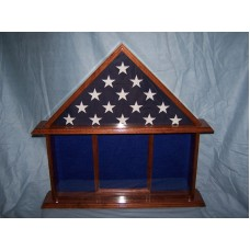 Collectibles Military Veteran Memorial Burial Flag Display Case, Shadow box   132283455802
