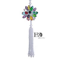 Crystal Flower Car Hanging Ornament Car Rear View Mirror Pendant Car Accessories 756910094997  382444485959