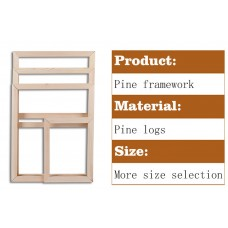 Custom assembly Pine wood framework (Additional installation accessories)   123272234147