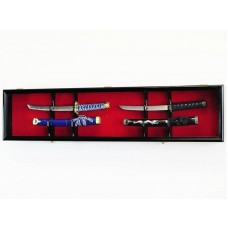 Dagger Tanto Short Swords Knives Display Case Wall Rack Cabinet Holder   371967601840