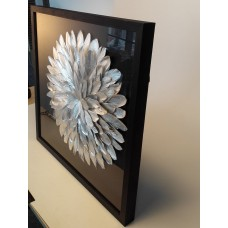 Feather Modern wall art  framed 3D shadow box  wall decore no oil painting   131984003408