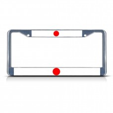 JAPAN FLAG Metal License Plate Frame Tag Border Two Holes   322191182882