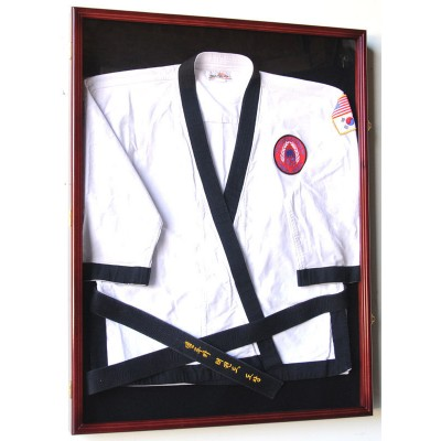 Karate Martial Arts Belt Uniform Jersey Display Case Lockable - 98% UV   302333854829
