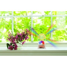 Kikkerland Standing Solar Powered Rainbow Maker #1586 place in a sunny window  609456684958  311483558851