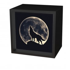 Light Box Art Howling Wolf Battery Powered LED Light Box Home Decor 6 x 6 x 2.75 692403261661  163052702748