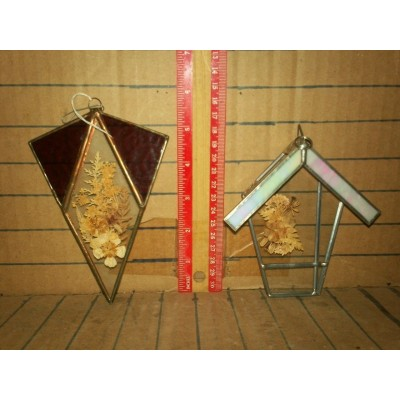 Lot of 2 Glass Suncatchers   263871500892