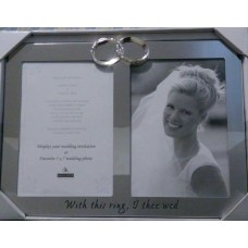 "Malden ""With This Ring, I Thee Wed"" Silver Wedding Ring Picture Invitation Frame 96287651677  192627564534"