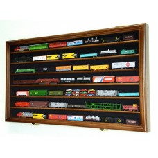 N Scale Train Display Case Cabinet for N or Z Gauge Scale Trains Set - Lockable   371967603727