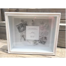 NEW Hallmark Signature Shadow Box Display Shelf or Wall Mount White Glass Front   123258404396
