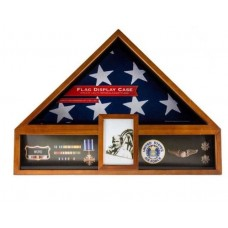 Oak 3 In 1 Flag Case USA Seller Free Shipping Flag Display Shadowbox New In Box   302306970790