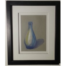 "Original pastel drawing ""blue secret"" by Purrot.   261681472870"