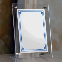 Pop Acrylic Photo Frame Picture Certificate Table Display Frame Study Room Decor   382167976612