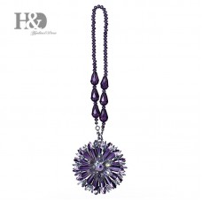 Purple Hanging Rainbow Suncatcher Crystal Peony Prism Feng Shui Pendant Decor 602716344937  372326203240