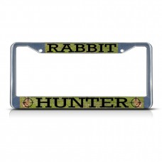 RABBIT ANIMAL HUNTING Metal License Plate Frame Tag Border Two Holes   322191210875